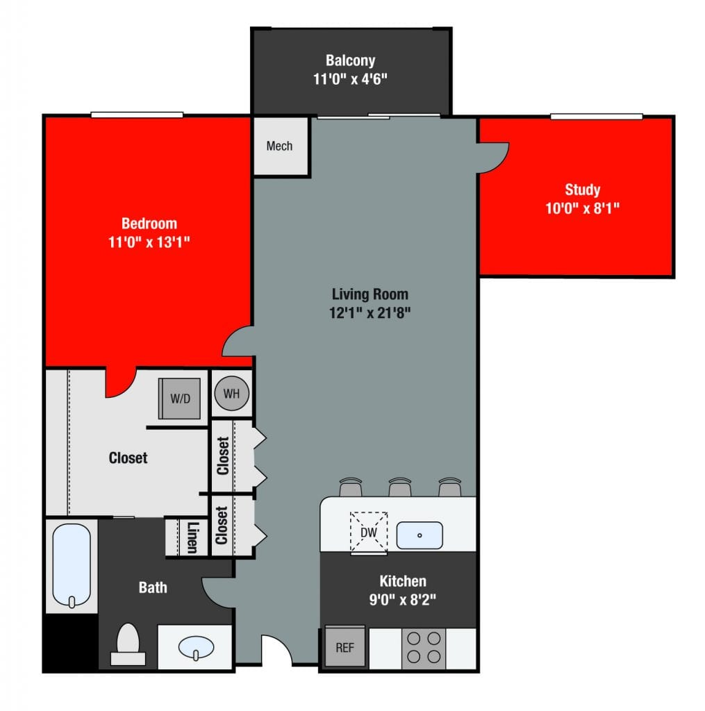 Apartments For Rent TGM NorthShore - Dempster with study