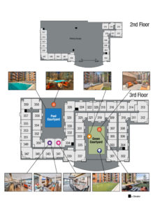 This image shows the site map 3 of TGM NorthShore in Northbrook, IL.