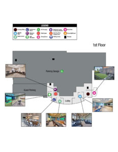 This image shows the site map of TGM NorthShore in Northbrook, IL.