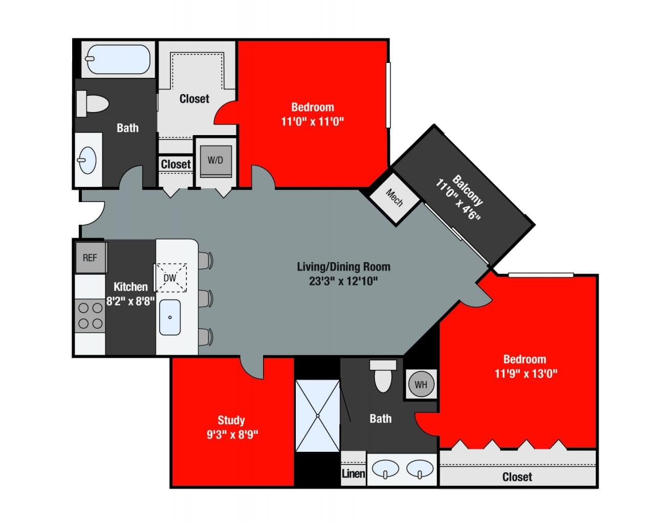 Apartments For Rent TGM NorthShore - Prescott with study