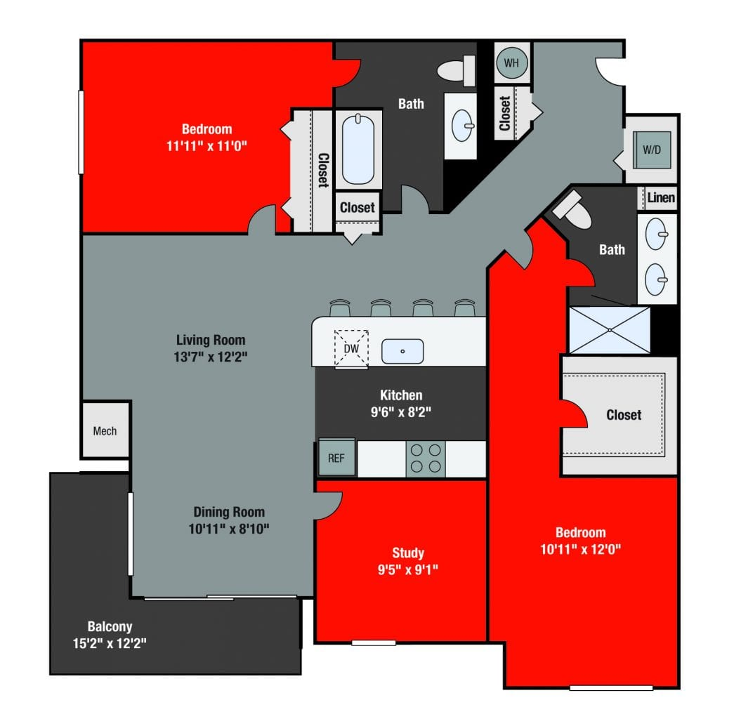 Apartments For Rent TGM NorthShore - Sheffield with study