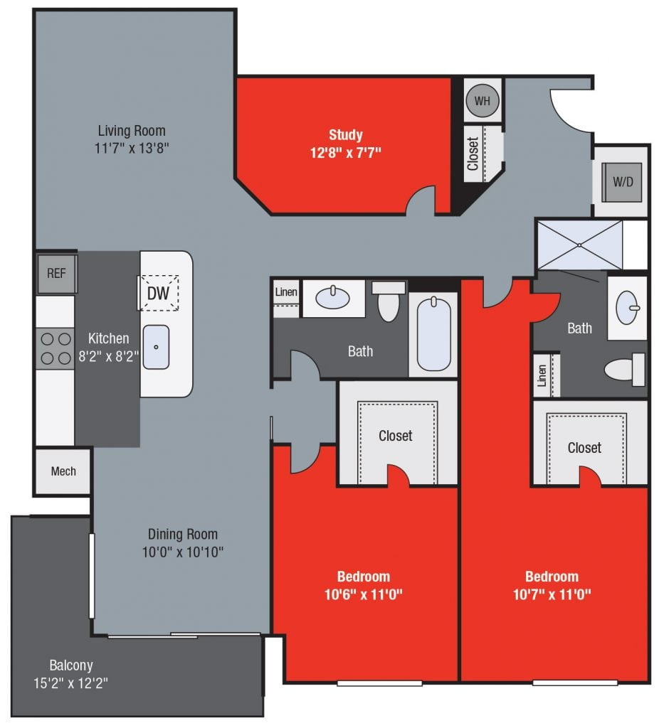 Apartments For Rent TGM NorthShore - State with study