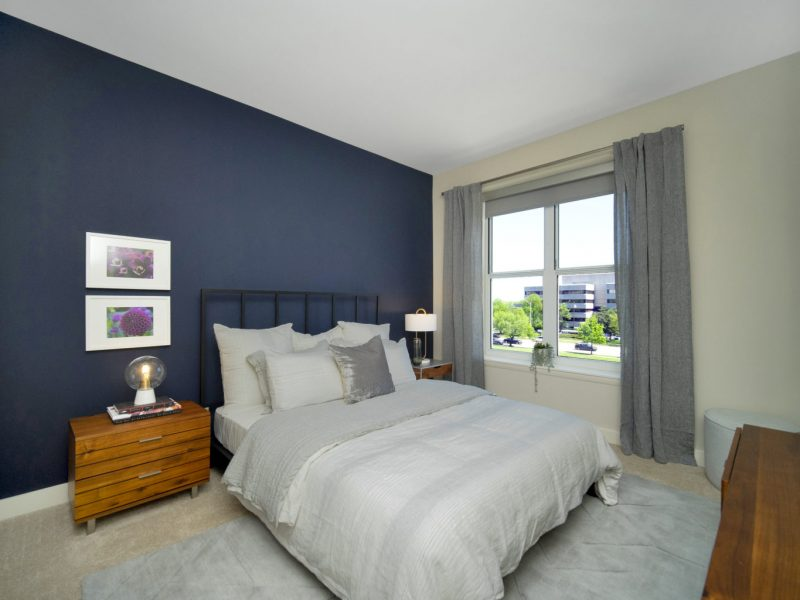 This image shows the premium feature in the bedroom area that is spacious and well decorated.