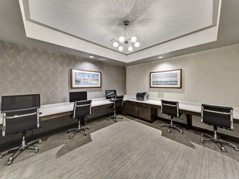 This image shows the business center in TGM Harbor Beach Apartment featuring its spacious area that was ideal for business gatherings and business meetings.