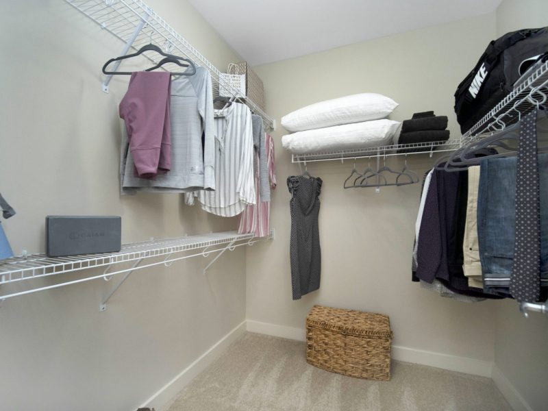 This image shows the Premium Apartment Feature, especially the oversized closet showcasing a spacious and comfy place to put your clothes.